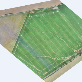 Photo aérienne de l'érosion